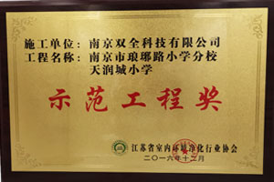 """<p align=""""center""""> <span style=""""color:#000000;""""><strong>学校示范工程奖</strong></span>  </p>"""